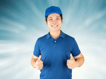 warehouseman: delivery man thumbs up