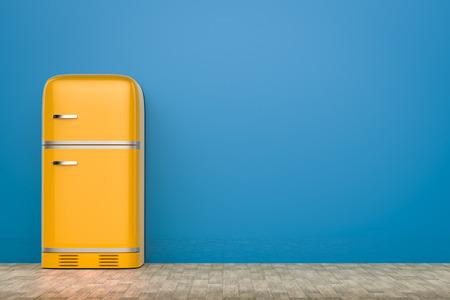 Retro Kühlschrank Orange : D rendering retro design kühlschrank lizenzfreie fotos bilder