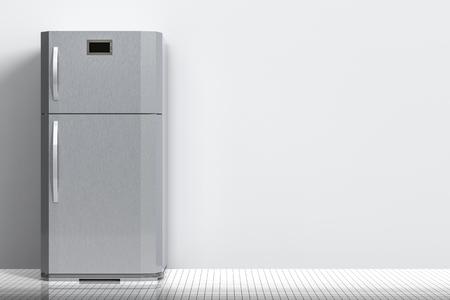 Retro Kühlschrank Grau : 3d rendering grau neuen kühlschrank isoliert auf weiß lizenzfreie