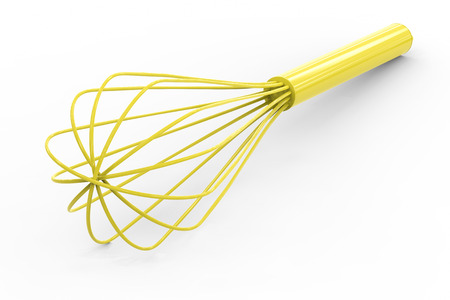 wire whisk: 3d rendering wire whisk on white background