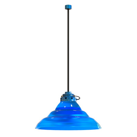 3d rendering pendant lamp isolated on white