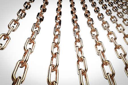 interlink: 3d rendering metal chains
