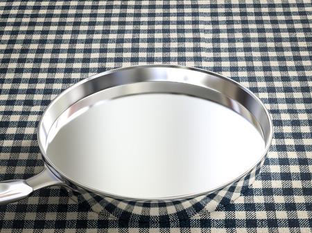 steel pan: 3d rendering empty stainless steel pan