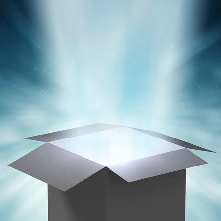 magic box: 3d rendering magic box with ray light
