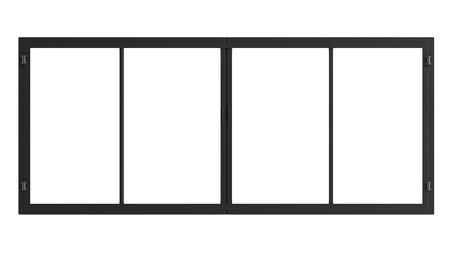 3D-Rendering-Fensterrahmen isoliert auf weiß Standard-Bild