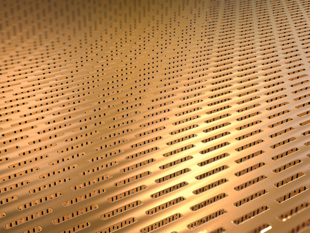 sifter: 3d rendering gold screen background