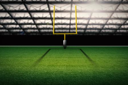 goalpost: 3d rendering american football field goal post