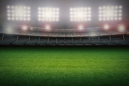 3d rendering stadium with soccer field