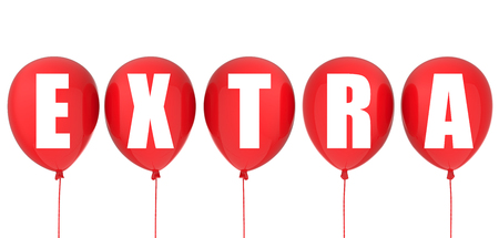notify: 3d rendering extra label on red balloons