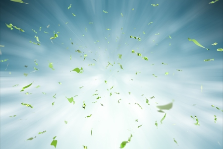 blue green background: green confetti explosion on blue background