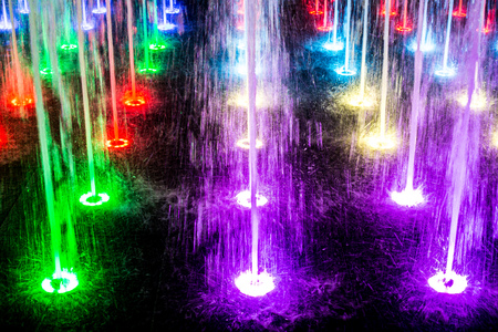 vibrant fountain with water splash
