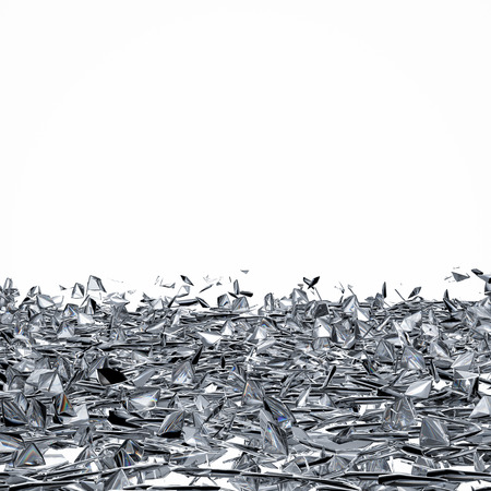 shards: pieces of broken glass with blank space on white background