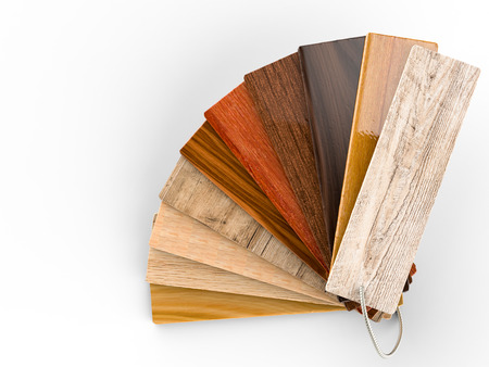 3d rendering wood color guide Stock Photo