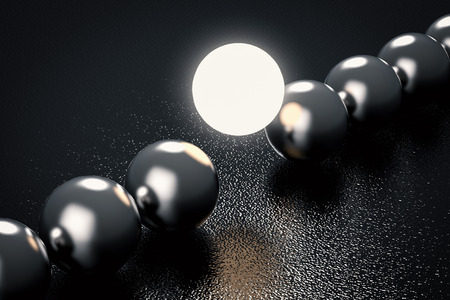 light up: leadership concept with light up sphere