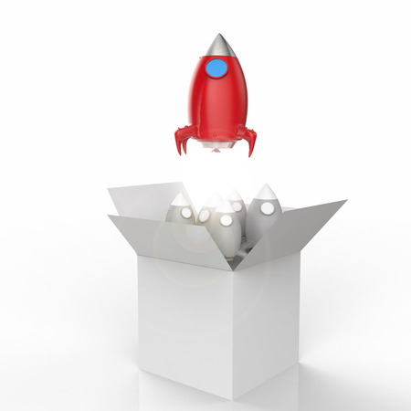 out of a box: space shuttle launch out of the box