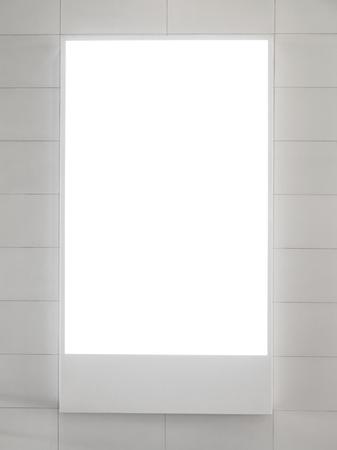 lege verticale billboard of lege lichtbak Stockfoto