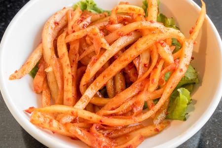 kim chi as side dish on table 版權商用圖片