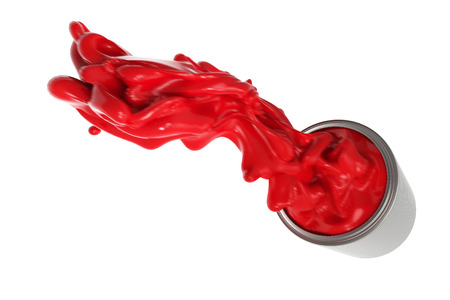 oil color: 3d rendering water color splash isolated on white Stock Photo