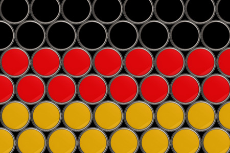 germany flag pattern background in bucket of color