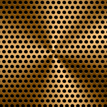 sifter: 3d rendering gold metal screen background Stock Photo