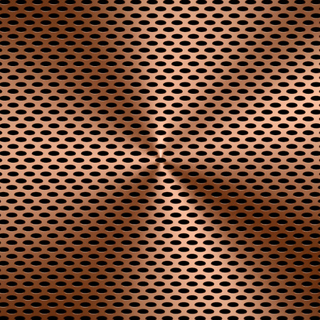 sifter: 3d rendering copper screen background Stock Photo
