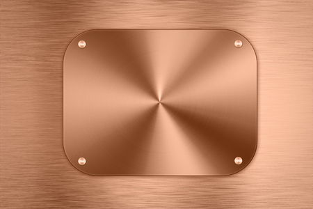 shiny metal background: shiny bronze metal plate background