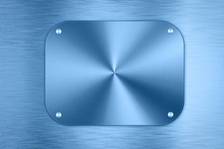 shiny metal background: shiny blue metal plate background Stock Photo
