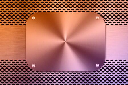 sifter: multicolored metal plate on metal screen background