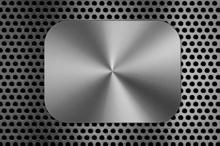 sifter: metal plate on metal screen background Stock Photo