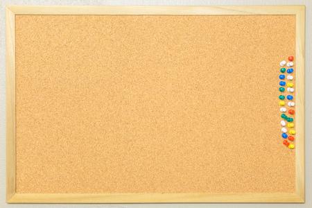 pin board: cork board with colourful pin Stock Photo
