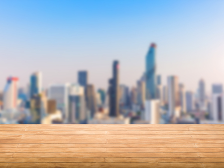 roof top: roof top balcony with cityscape background Stock Photo