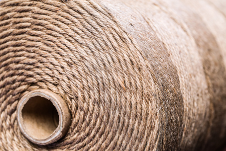 loopable: rolled up brown rope background with core