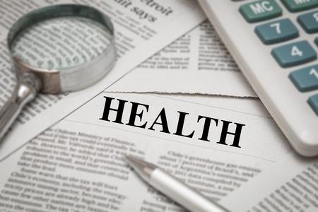 dissertation: health headline on newspaper background