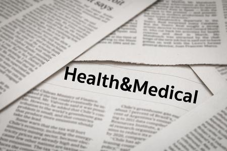 dissertation: health & medical headline on newspaper