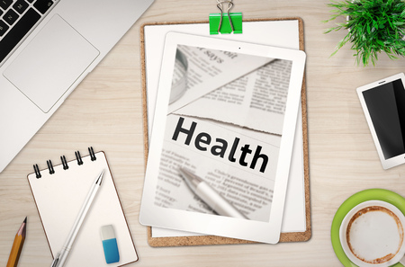health issue: health issue information on office desk