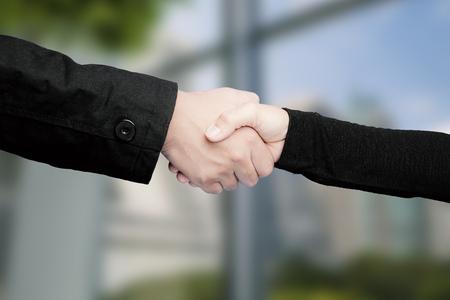 pacto: apretón de manos para el concepto de sociedad de negocios