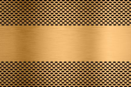 metal plate backgroud with metal screen