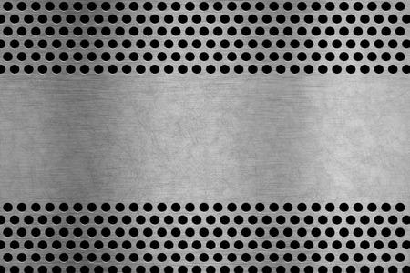 backgroud: metal plate backgroud with metal screen