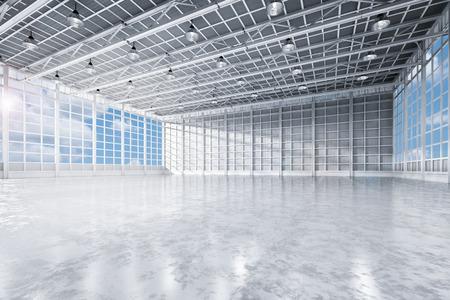 3D-rendering interieur lege fabriek
