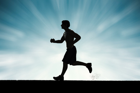 silueta del hombre en ejecución o corredor masculino