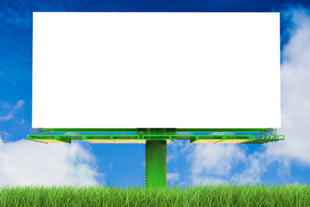 proclaim: 3d rendering blank white billboard Stock Photo