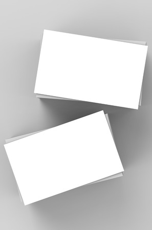 stack of business cards: stack of white blank business cards or name cards Stock Photo