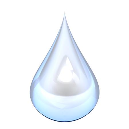 白い背景の上に水のしぶき