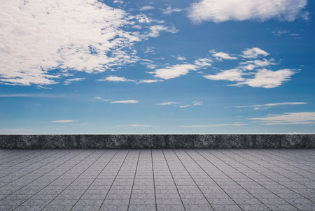 roof top: empty roof top with cloudy sky background