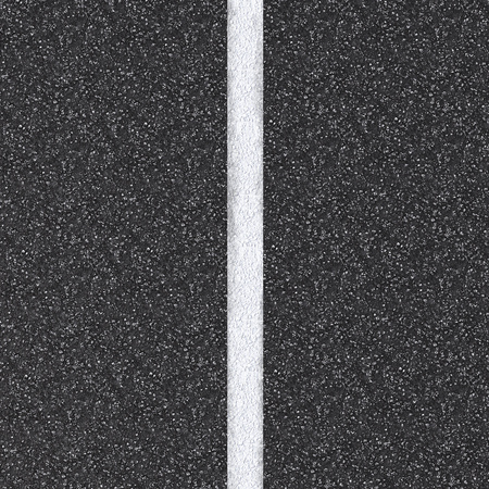 3d rendered asphalt road top view with white line
