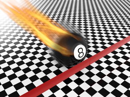 bola ocho: fast moving eight ball to finish line