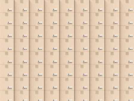 despatch: 3d rendering carton box background Stock Photo