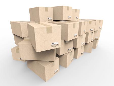 stockpile: heap of stockpile on white background