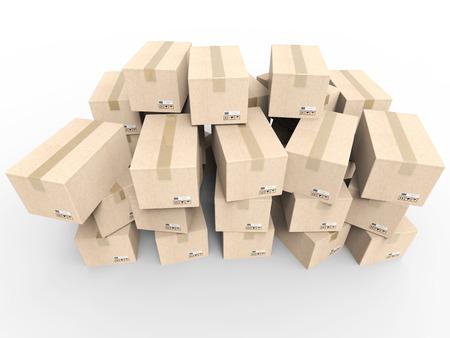 despatch: heap of stockpile on white background