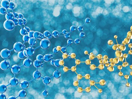 molecule structure: 3d rendering circular molecule structure